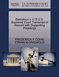 Barsaloux V. U S U.S. Supreme Court Transcript of Record with Supporting Pleadings