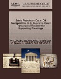 Sohio Petroleum Co. V. Oil Transport Co. U.S. Supreme Court Transcript of Record with Supporting Pleadings