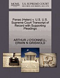 Panas (Helen) V. U.S. U.S. Supreme Court Transcript of Record with Supporting Pleadings