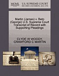 Martin (James) V. Beto (George) U.S. Supreme Court Transcript of Record with Supporting Pleadings