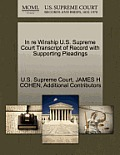 In Re Winship U.S. Supreme Court Transcript of Record with Supporting Pleadings