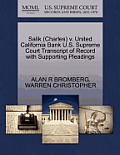 Salik (Charles) V. United California Bank U.S. Supreme Court Transcript of Record with Supporting Pleadings