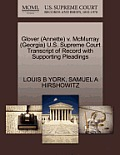 Glover (Annette) V. McMurray (Georgia) U.S. Supreme Court Transcript of Record with Supporting Pleadings