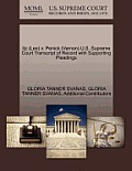 Itz (Leo) V. Penick (Vernon) U.S. Supreme Court Transcript of Record with Supporting Pleadings