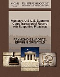 Montos V. U S U.S. Supreme Court Transcript of Record with Supporting Pleadings