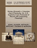Worley (Emmett) V. Columbia Gas of Kentucky, Inc. U.S. Supreme Court Transcript of Record with Supporting Pleadings