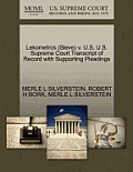 Lekometros (Steve) V. U.S. U.S. Supreme Court Transcript of Record with Supporting Pleadings