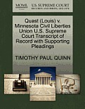 Quast (Louis) V. Minnesota Civil Liberties Union U.S. Supreme Court Transcript of Record with Supporting Pleadings