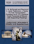 L. N. McDonald and Raymond L. Laird, Petitioners, V. Santa Fe Trail Transportation Company et al. U.S. Supreme Court Transcript of Record with Support