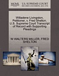 Willadene Livingston, Petitioner, V. Fred Shelton. U.S. Supreme Court Transcript of Record with Supporting Pleadings