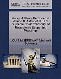 Henry H. Klein, Petitioner, V. Vernon B. Astler et al. U.S. Supreme Court Transcript of Record with Supporting Pleadings