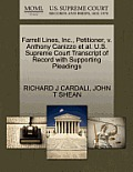 Farrell Lines, Inc., Petitioner, V. Anthony Canizzo et al. U.S. Supreme Court Transcript of Record with Supporting Pleadings