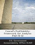 Conrail's Profitability: Framework for Analysis: Pad-78-52