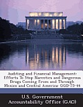 Auditing and Financial Management: Efforts to Stop Narcotics and Dangerous Drugs Coming from and Through Mexico and Central America: Ggd-75-44