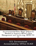 Environmental Data: Major Effort Is Needed to Improve Noaa's Data Management and Archiving: Imtec-91-11