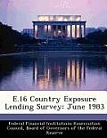 E.16 Country Exposure Lending Survey: June 1983