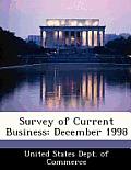 Survey of Current Business: December 1998