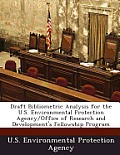 Draft Bibliometric Analysis for the U.S. Environmental Protection Agency/Office of Research and Development's Fellowship Program