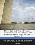 Storm Data and Unusual Weather Phenomena with Late Reports and Corrections: March 2003, Volume 45, Number 3