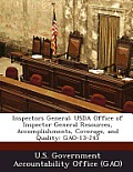Inspectors General: USDA Office of Inspector General Resources, Accomplishments, Coverage, and Quality: Gao-13-245