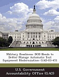 Military Readiness: Dod Needs to Better Manage Automatic Test Equipment Modernization: Gao-03-451