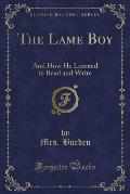 The Lame Boy: And How He Learned to Read and Write (Classic Reprint)