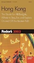 Fodors Hong Kong 2003