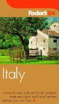 Fodors Italy 2004