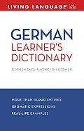 German Learner's Dictionary: German-English/English-German