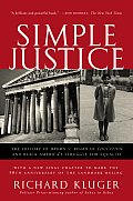 Simple Justice: The History of Brown v. Board of Education and Black America's Struggle for Equality Cover