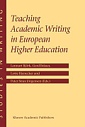 Studies in Writing #12: Teaching Academic Writing in European Higher Education