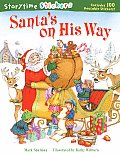 Santa's on His Way with Sticker (Storytime Stickers)