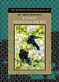Tiffany Stained-Glass Kit [With 1 Clear Acetate with Design, 1 Suction Cup and Paint Brush and Paint and Booklet] (My Masterpiece)