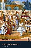 Alice in Wonderland Book W/Audio CD, Level 2, Pearson English Readers