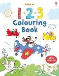 123 Colouring Book With Stickers