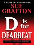 D Is for Deadbeat (Large Print) (Thorndike Famous Authors) Cover