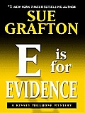 E Is for Evidence (Large Print) (Thorndike Famous Authors) Cover