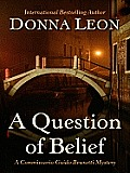A Question of Belief (Large Print) (Thorndike Mystery)