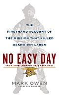 No Easy Day: The Firsthand Account of the Mission That Killed Osama Bin Laden (Large Print) Cover