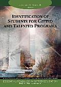 Identification of Students for Gifted & Talented Programs