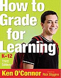 How to Grade for Learning, K-12 Cover