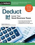 Deduct It!: Lower Your Small Business Taxes Cover