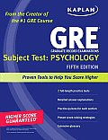 Gre Grad. Rec. Examination: Subject Test: Psychology (5TH 10 Edition)