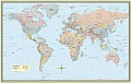 World Map Poster Paper 50x32 Rolled