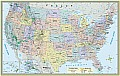 Us Map Poster Paper 50x32