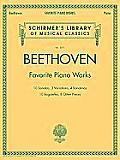 Beethoven Favorite Piano Works Schirmers Library of Musical Classics 2071