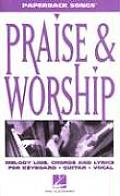 Praise and Worship (Paperback Songs) Cover
