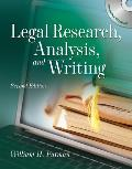 Legal Research, Analysis, and Writing - With CD (2ND 10 - Old Edition)