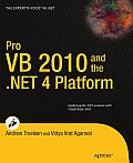 Pro VB 2010 and the .NET 4.0 Platform Cover
