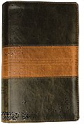 ESV, Personal Size Reference Trutone Bible (Forest/Tan, Trail Design) Cover